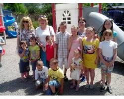 Святкові заходи до Дня захисту дітей відвідали діти з сімей, які користуються послугою Служби «Соціальна няня».