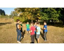 зустріч з дитячою дворовою командою з футболу «Дружба»