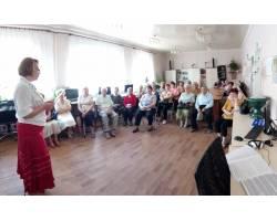 20 вересня в Територіальному центрі соціального обслуговування (надання соціальних послуг) Чугуївської міської ради пройшло чергове заняття Університету третього віку.