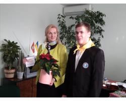 Зстріч лідерів міської ради старшокласників з міським головою Г.М. Мінаєвою