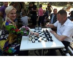 Відкриття шахового майданчику у сквері Слави