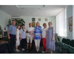 Галина Мінаєва зустрілась з волонтером Бенджаміном Абрамсом